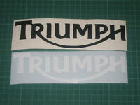 2 TRIUMPH Decals Stickers Motorbike Racing Motorcycle Tank Fairing Helmet Wheels