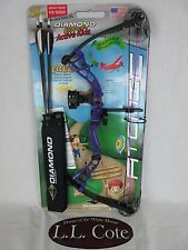 Diamond Atomic Right Hand Youth Compound bow Purple package