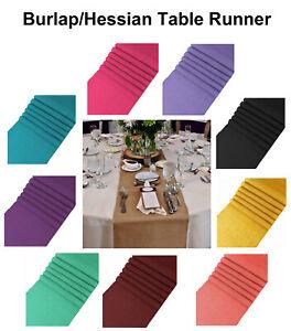 "1/5/10/12/15/20/25 - Burlap Jute Table Runner Rustic Hessian Wedding 12"" X 108"""