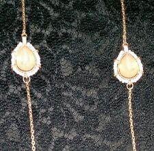 """VANITY Rhinestone Necklace Goldtone Chain New with Tags Lots of Sparkle 38-41"""""""