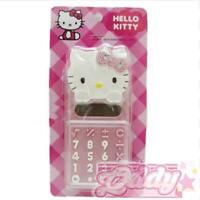 Hello Kitty Head-Shape Electronic Calculator Retro PINK  Sanrio 8-Digit