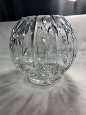 Faberge Crystal Collection Vase Round Rose Bowl
