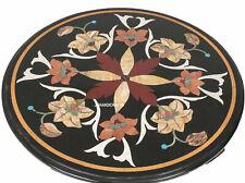 "30"" Marble Elegant Coffee Table Top Pietra Dura Gemstone Inlaid Work Size"