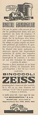 Z3122 Binoccoli grandangolari ZEISS - Pubblicità d'epoca - 1932 old advertising