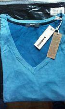 """TOP T-shirt femme DIESEL T- """"SYS"""" bleu neuf avec étiquettes 100%Viscose Xs et M"""