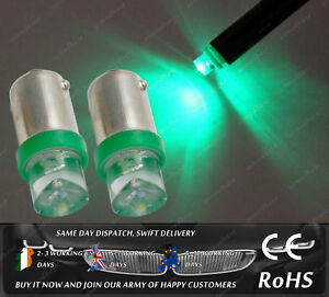 LED Bax9S H6W 433 434 Xenon Green Interior Bulbs Dashboard Speedometer Lights