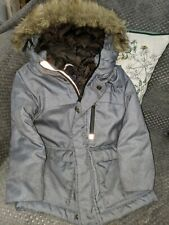 Used Next Age 4 Boys Coat School Winter Warm Fur Hood