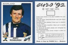 NUOVA//NEW N143 ROXBURGH SCOTLAND FIGURINA CALCIATORI PANINI EURO 92