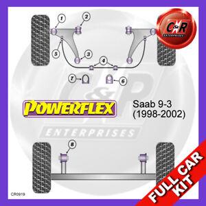 Saab 9-3 (1998-2002)  Powerflex Complete Bush Kit