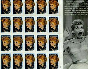 3523 34 cent Lucille Ball Legends of Hollywood Full mint sheet of 20 MNH OG