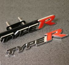 Type R Front Grill & Rear Boot Badge Set Emblem Decal Logo For Honda Civic j25s