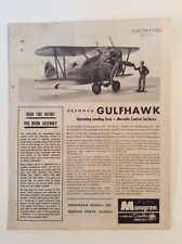 Vintage Grumman Gulfhawk Biplane 1/32 Model Instruction Sheet 1960s