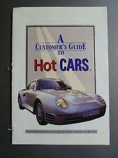 "1968 - 1973 Jaguar XJ6 Sedan IMP ""Hot Cars"" Spec Sheet Folder Brochure Awesome"