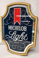 Vintage Michelob Light Beer Mirror Sign Advertising 602-208 Anheuser Busch