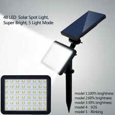 48 LED Solar Powered Flood Light Outdoor Yard Garden Spot Lamp Waterproof