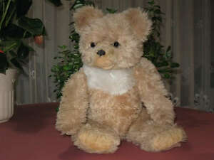 Vintage 17in German Dralon Mohair Open Mouth Zotty Bear