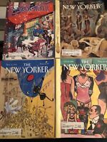 The New Yorker Magazine Lot Of 4 Magazines From 1993 Have Labels.        Lot 1