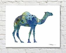 Camel Contemporary Watercolor Art 11 x 14 Print by Artist Djr