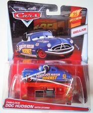 CARS - FABULOUS DOC HUDSON with STAND - Mattel Disney Pixar DELUXE