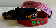 Personalised Embroidered Australian Named Dog Collars Small size