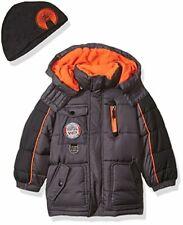 Weatherproof Toddler Boys' Outerwear Jacket , Bubble-We99-Charcoal/Blac k 3T