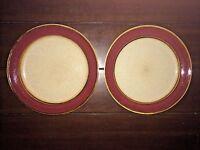 "Set of 2 Sango Stoneware Rainbow Cranberry 7 3/8"" Salad or Dessert Plates"