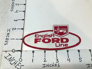 """VINTAGE 1950/1960'S EMBROIDERED FORD ENGLISH LINE JACKET PATCH 5"""" X 2"""""""