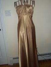 DUSK Collection Size 4 Beaded Gold Prom Gown Formal by Sheila Yen Mini Pearls