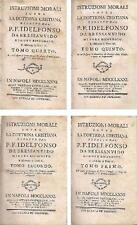ISTRUZIONI MORALI SOPRA LA DOTTRINA CRISTIANA 5 volum 1781 Idelfonso Bressanvido