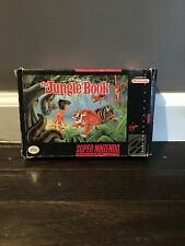 Disney's The Jungle Book (Super Nintendo SNES) CIB Original Box