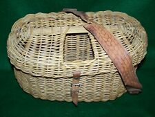 Vintage Orvis Whole Wicker Center Hole Creel (Scarce and very nice)