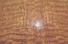 "Waterfall Bubinga figured wood veneer 20"" x 19"" on paper backer 1/40th"" thick"