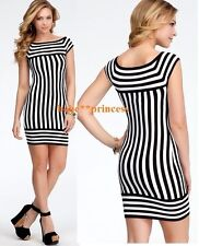 NWT bebe XS white black boat neck contrast stretchy sweater top dress bodycon