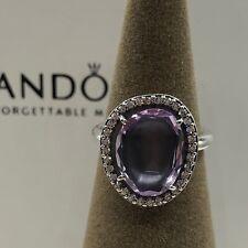 NEW! Authentic Pandora Glamorous Legacy Amethyst & CZ Ring #190893AM-52 (6)