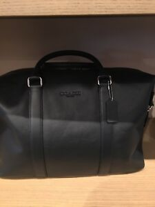 Coach Overnight Leather Bag Medium Black NWT