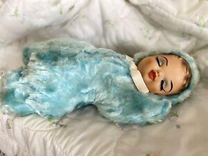 Vintage Rubber Face  Plush Sleepyhead Doll