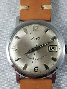 Vintage Orvin  mans watch, nice collector watch , working !