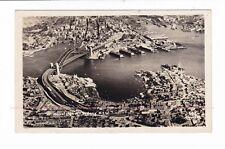 SYDNEY HARBOUR BRIDGE  Railway WHARVES Luna Park AERIAL PHOTO c.1935-40s
