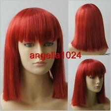 Synthetic medium (34cm) new fashion cherry red cosplay wigs Free shipping 9020-1