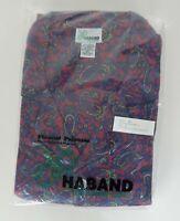 Haband Men's Long Sleeve, Long Leg XXL Flannel Pajamas Botton Front Top