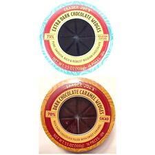 Trader Joes 2-PACK COMBO 1 Extra Dark Belgian Chocolate + 1 Caramel Wedges 32 PC