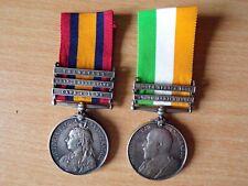More details for 2 boer war south africa medals with bars - 29517 sapr j. bergan
