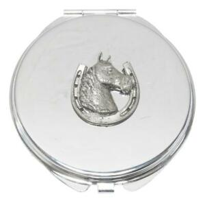 Horse Head In Shoe Compact Mirror Handbag Gift With Free Engraving 186