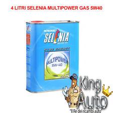 4 LITRI LT OLIO MOTORE SELENIA MULTIPOWER 5W40 5W-40 GAS METANO LUBRIFICANTE