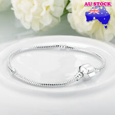 Wholesale 925 Sterling Silver Filled Cable Twisted With Pandora Clasp Bracelet