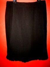 SUNNY LEIGH Wm's sz.6 Black w/ Ruffled Bottom & Back Slit Career/Dressy Skirt