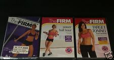 THE FIRM Workout 3 DVD Lot Hips Thighs & Abs, Target Toning, Power Half Hour NEW