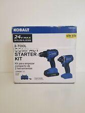 Kobalt 0864452 24V Brushless 2-Tool Kit 1/2 Inch Drill Driver 1/4 Impact Driver