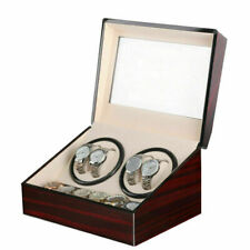 Watch Winder Box Watch Case Gift Christmas Rotating Storage 4+6 Grids V01
