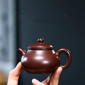 handmade tea pot Pan pot marked Chinese real yixing zisha pot kungfu tea pot new